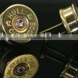 Military craft bullet shape cufflinks for military fans