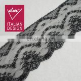 Embroidery elegant width 13.5cm lace for ladies dress