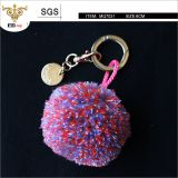 High quality 8cm fluffy pom pom, Multi-color pom-pom ball, be used for key-ring decoration and bags charm