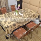 Indian Cotton Table Cloth Black-Cream Mandala Elephants Printed Dinning Cloth Vintage Wall Hanging Throw Bed Sheet Cover TC1