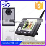3.5inch Monitor Wireless video door entry system for apartment