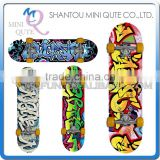 MINI QUTE Outdoor Fun & Sports 4 color plastic funny kids boy children scrawl longboards skateboard educational toy NO.WME05015