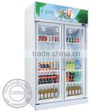 OP-A305 Double Door Fan Cooling Beverage Fridge for Sale