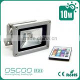 IP65 COB RGB 10W led floodlight with IR remote control/ RF LED Floodlight