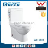 Two-Piece Washdown Watermark Toilet S/P Trap with GEBERIT or R&T Fitting Soft Cover, Australian Standard WELS WC-6002