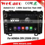 "Wecaro android 4.4.4 car radio China Factory 8"" for honda crv car dvd gps navigation system BT gps 3g TV 2006 2011"
