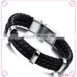 Latest Designs Stainless Steel Jewelry Fashion Mens Leather Bracelet 2015                                                                         Quality Choice