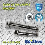 BS-AN02-004 M8 sleeve anchor with flange nut stainless steel 304