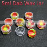 Food grade silicone jars dab wax container custom plastic bho jar acrylic silicon container