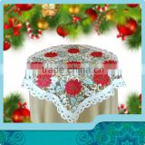 christmas design table topper with christmas flower decoration for christmas table