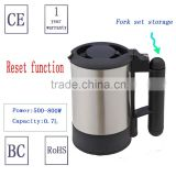 Portable multifunctional efficient travel/home appliance stainless steel electric water kettle