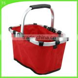 Single handle environmental folding picnic basket Supermarket shopping cart                                                                                                         Supplier's Choice
