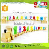 Early Education Learning Toy Children Wooden Number Train Toy Kids Craft Toy