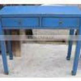 Reproduction vintage chinese classical antique furniture blue cabinet