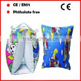 Pretty printed inflatable swimming armrings for kids inflatable armbands