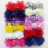 garment accessory/ fabric flower/kids hair bow/fashion accessory/large wholesale hair bows