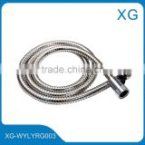 1.5 m double lock stainless steel shower hose/Bathroom shower hose set cheap price/PVC inner tube zinc nut shower hose