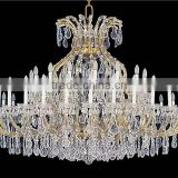 Indoor modern large crystal led chandliers luxury