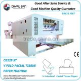 Machine Drawing Box Facial Tissue Embossed Paper Manufacturing