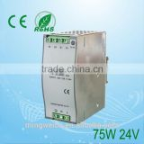 Hot sale DR-75-24 LED Driver (75W 24V 3.2A) 100W Single Output Industrial 5v/12v/24V DIN Rail Power Supply And 24V Switching Pow
