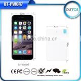 Hot selling universal portable power bank credict card 2500mah for cell phone