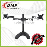 LED/LCD Monitor Desk Arm Aluminum Free Standing Double Mount Stand