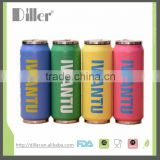 Cola Can Double Wall Stainless steel metal water Bottle with folding straw                                                                         Quality Choice
