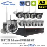 Looline New Product 9 Channel 720P Transmission Distance 300M 2.4G Wireless Wifi IP Camera Nvr Kits