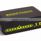 Wholesale SPDIF TOSLINK Digital Optical Audio True Matrix 4x2 Switcher/Splitter 4 In 2 Out
