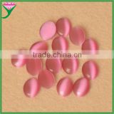 wholesale alibaba oval shape cabochon red synthetic jasper cat eye semi-precious stone for jewelry