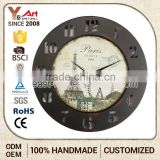 2016 Latest Design Craft Art Mdf Wall Pattern Kitchen Scale Clock