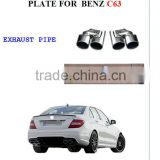 REAR SKID PLATE AND EXHAUST PIPE FOR BEN Z C63