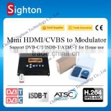 2016 cost-effective single channel mpeg4 hdmi to rf converter