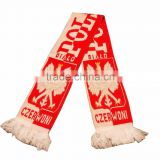 bob trading nice service football fans Knitting scarf fashion accessory new style knitting scarf
