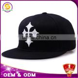 plain black snapback cap with embroidery logo