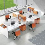 High - end Melamine Favorite office room Guangzhou 3 person office workstation/office furniture