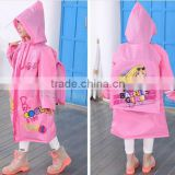 Boys Girl Baby Children Kids Raincoat Rain Coat Suit Cape Rainwear Poncho Hooded