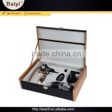 Highest Quality Compact Quick Pulling Aluminum Silver Wine Opener Tool Set With Bamboo Box