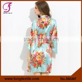 FUNG 3002 New Floral Silk Bride Pajamas