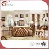 2016 A07 luxury classic home furniture -antique style hand carved solid wood bedroom set
