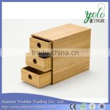 Multi-function Bamboo desk organizer Bamboo Storage Boxes/Bamboo receive drawer