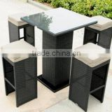 Betty Anti-aging Outdoor Furniture Long-lasting Patio Rattan Bar Set Leisure Bar Chair and Table