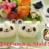 cook rice machinery kitchen tools plastic animal moldings children gift bento lunch box mold maker panda punch & mold set