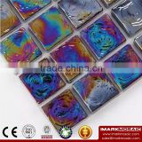 IMARK Iridescent Square Glass Hot Melt Recycle Glass Mosaic Swimming Pool Tile