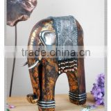Indian elephant statues w small beads gift crafts