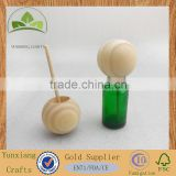natural pine wood ball with rattan stick for home air freshener and decoration