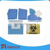 CE/ISO approved AMH-8209 Surgical Implantology kit/ Disposable sterile kit/high quality suit kit