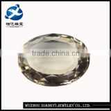 Alibaba gold supplier wholesale decorative glass gems 15x20mm oval shape pagoda wholesale crystals stones