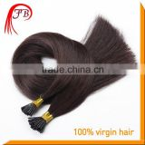 Hot sale 100% Human Brazilian I tip Hair Pre-bonded Remy Stick tip 1g/strand I Tip Hair Extension