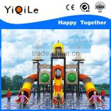 High quality adult water slide happy amusement park water slide durable portable water park